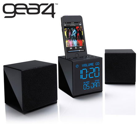 gear4 alarm clock radio for your iphone or ipod roashina. Black Bedroom Furniture Sets. Home Design Ideas